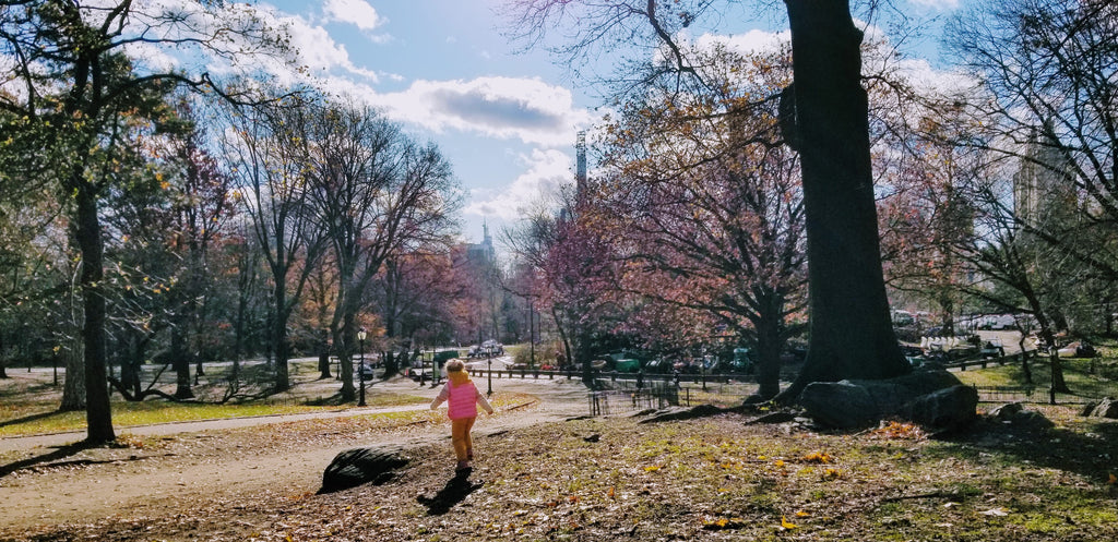 Xaria exploring the Central Park, New York City
