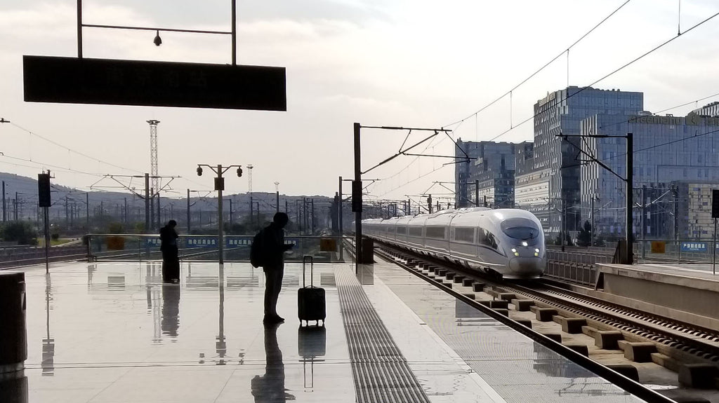 Training Arriving on the The Beijing–Shanghai high-speed railway (Jinghu high-speed railway)