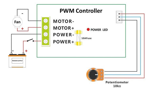 Circuit Diagram of PWM-based Variable Speed Vent Controller