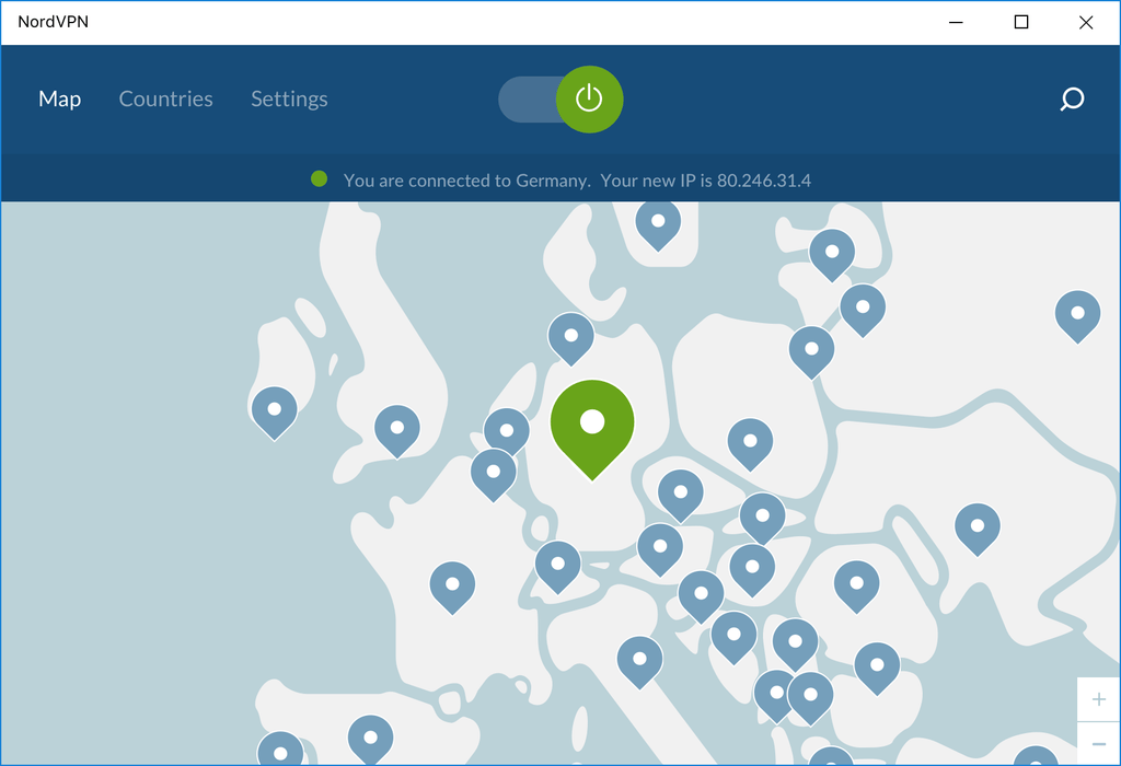 Simple Application Interface with NordVPN - Virtual Private Network Provider