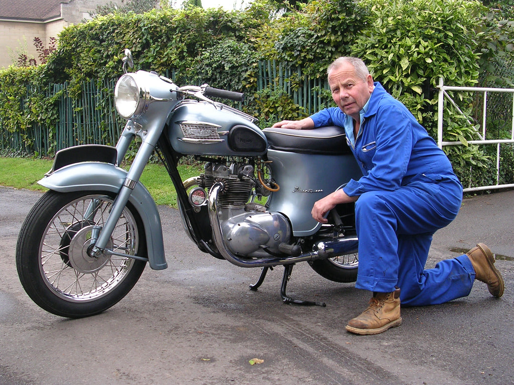 Mike with a Nice Example of a Triumph Twenty-One