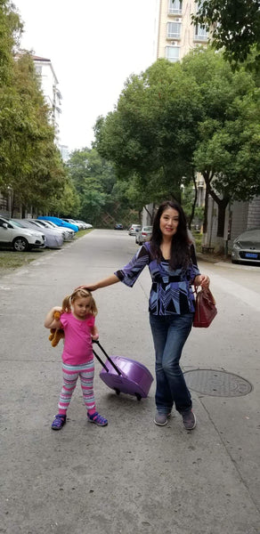 On the Way to Kindergarten in Nanjing, China