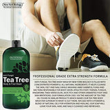Antifungal Tea Tree Oil Body Wash - HUGE 16 OZ - 100% Pure & Natural - Extra Strength Professional Grade - Helps Soothe Toenail Fungus, Athlete Foot, Body Itch, Jock Itch & Eczema : Beauty - Kharla Khufu