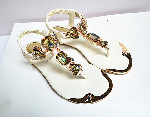 Woman Sandals 2017 hot fashion Rhinestone women shoes ladies shoes - Kharla Khufu