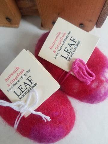 Grapefruit and Buttermilk Felted Soap