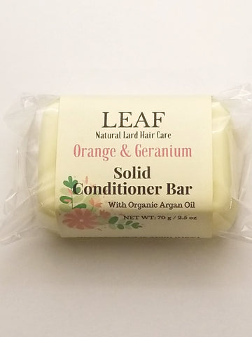 Orange & Geranium Solid Conditioner Bar
