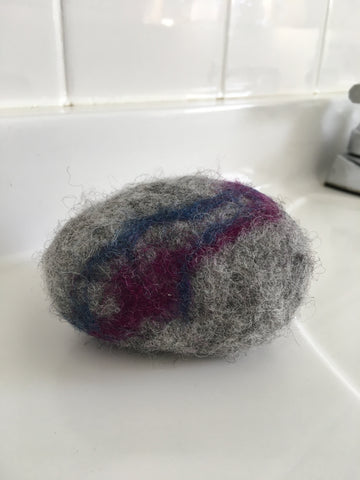 Eucalyptus and Lavender Felted Soap