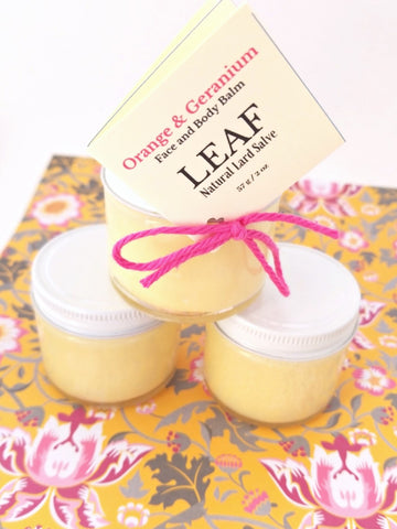 Orange and Geranium Face and Body Balm