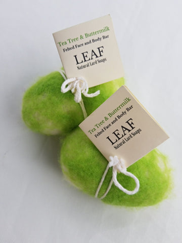 Tea Tree & Buttermilk Felted Soap