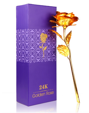 24K Gold Plated Rose