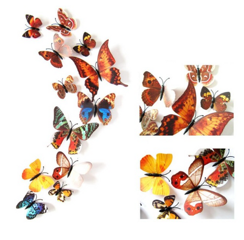 3D Butterfly Wall Decal / Sticker