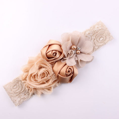 Classic Lace with Flower Headband
