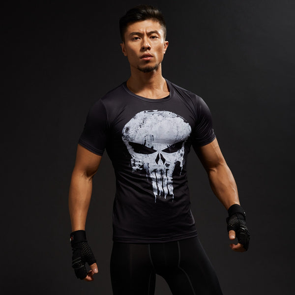 The Punisher Skull Compression Shirt
