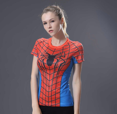 Spiderman Compression Shirt for Women