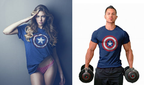 Captain America T Shirt for Men & Women