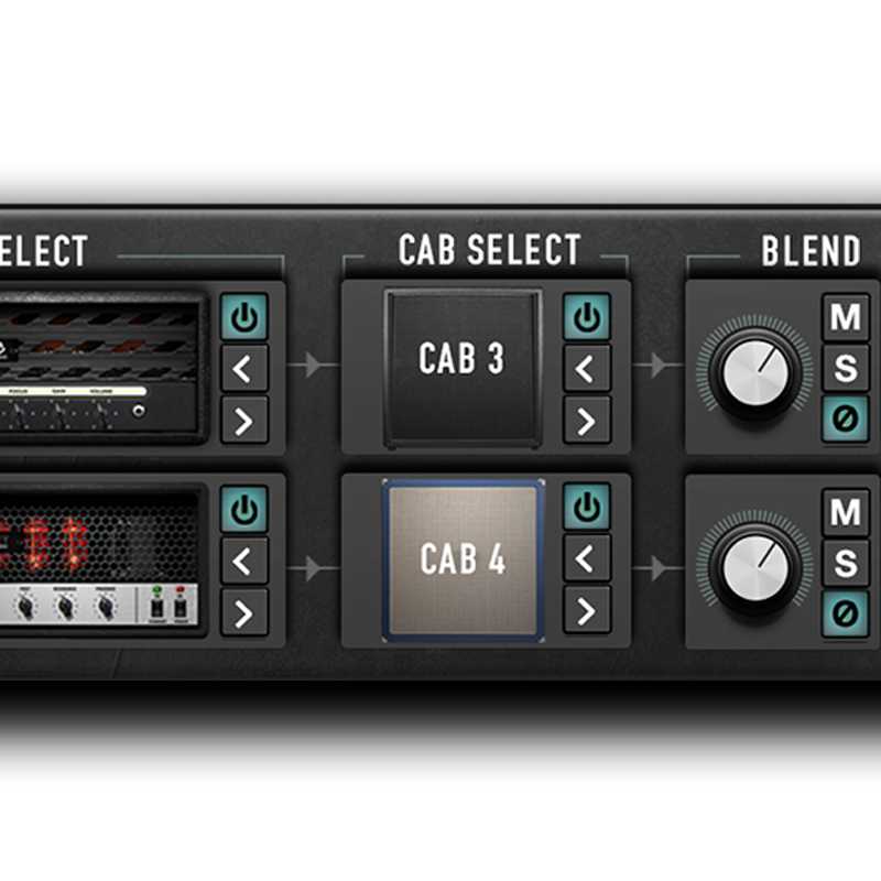 Now you can intuitively mix dual amps and dual cabs at the same time.