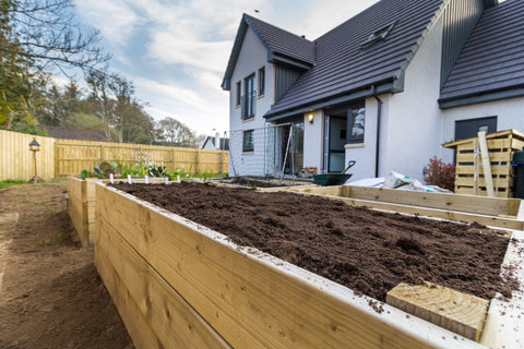 Raised Bed Filled with Soil Ready for Planting