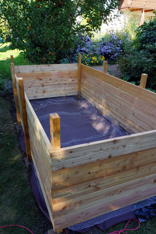 Wooden Raised Bed with Weed Cloth Beneath