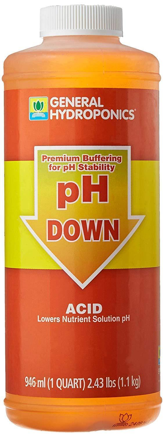 General Hydroponics Lawn & Patio 1 Quart pH Down Liquid