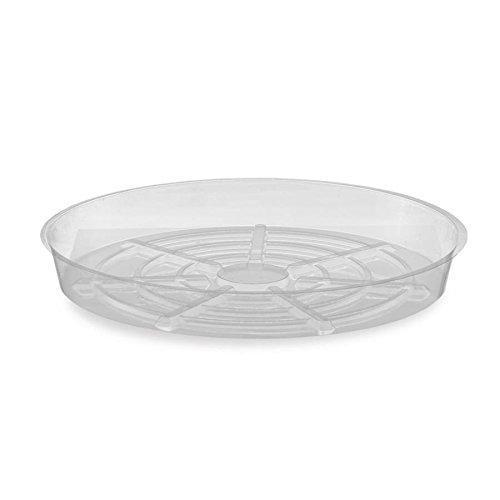 "Green Valley Supply 6"" Clear Plastic Saucer"