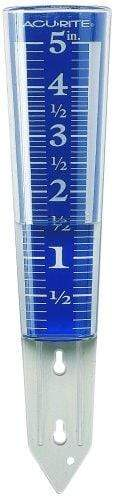 Acu Rite Lawn & Patio 5-Inch Capacity Easy-Read Magnifying Rain Gauge