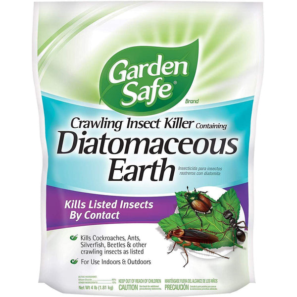 Garden Safe Lawn & Patio Crawling Insect Killer Containing Diatomaceous Earth, 4 Lb