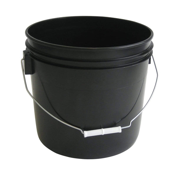 Green Valley Supply 3.5 Gallon Black Buckets (3-Pack)