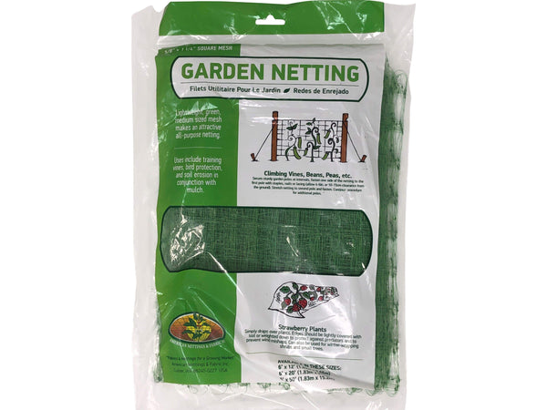 Green Valley Supply Lawn & Patio Green Garden Netting 6' X 20'