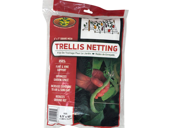 Green Valley Supply Lawn & Patio UV Stabilized Plastic Trellis Netting 6.5' X 50'