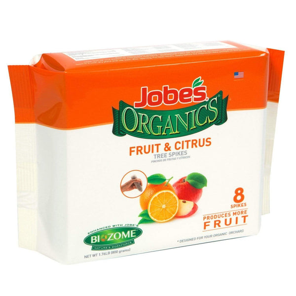 Jobe's Lawn & Patio 8 Fruit & Citrus Tree Fertilizer Spikes, 4-6-6 Time Release Fertilizer