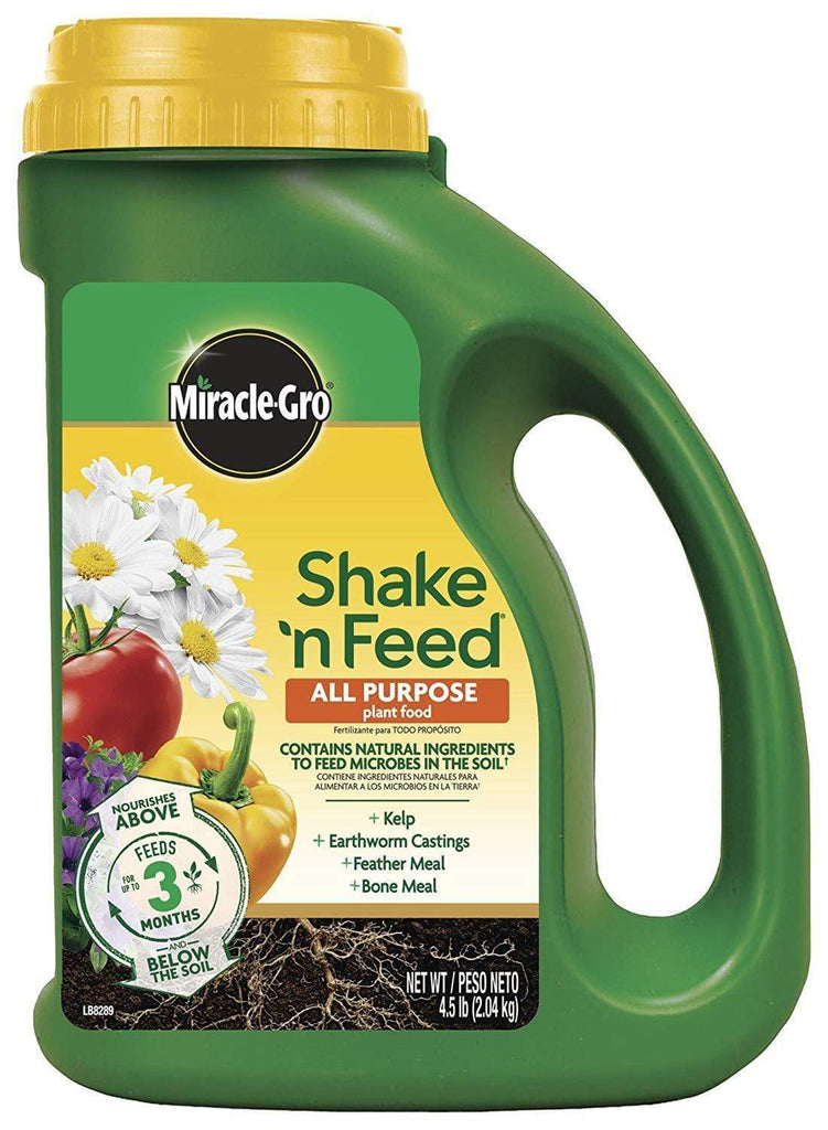 Miracle-Gro Lawn & Patio 4.5 Lb Shake 'N Feed All Purpose Continuous Release Plant Food