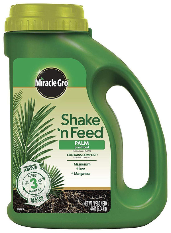 Miracle-Gro Lawn & Patio 4.5 Lb Shake 'N Feed Continuous Release Palm Plant Food