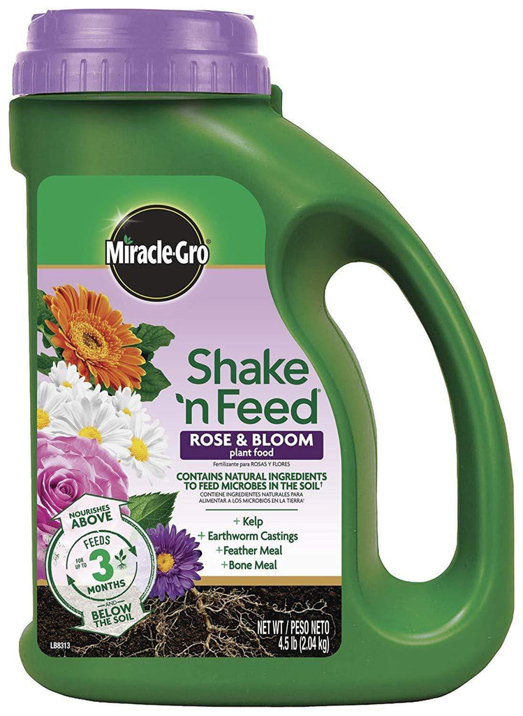 Miracle-Gro Lawn & Patio 4.5 Lb Shake 'N Feed Rose and Bloom Continuous Release