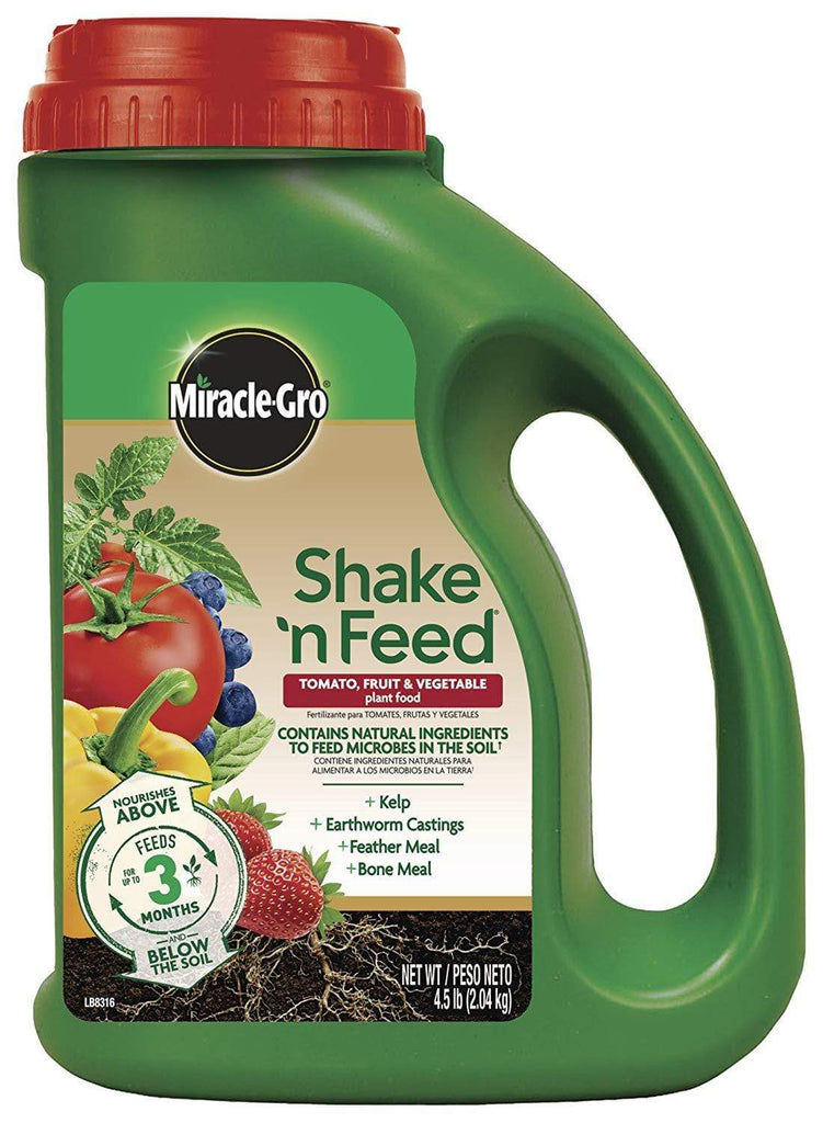 Miracle-Gro Lawn & Patio 4.5 Lb Shake 'N Feed Tomato, Fruits and Vegetables