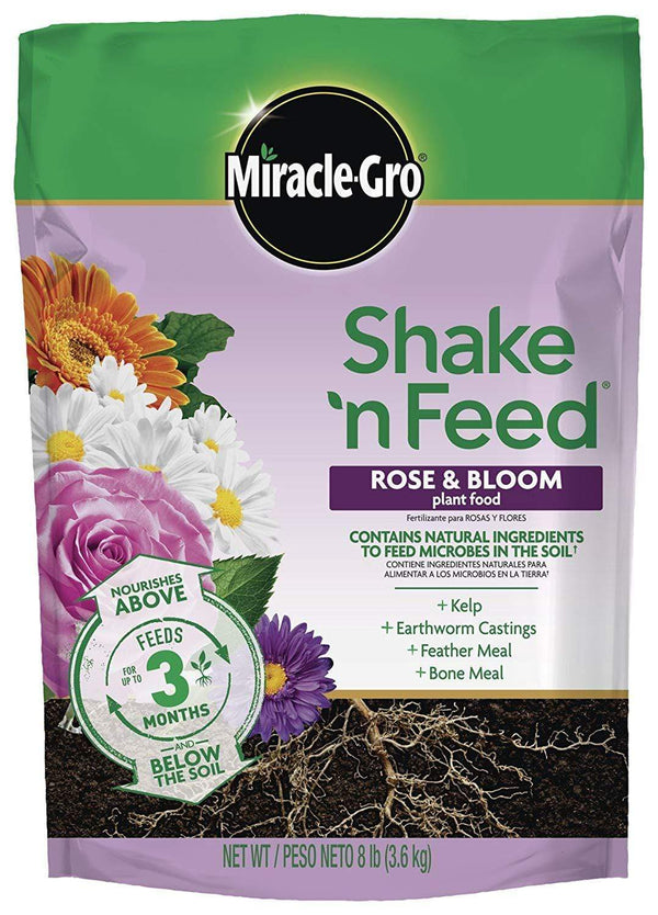 Miracle-Gro Lawn & Patio 8 Lb Shake 'N Feed Rose and Bloom Continuous Release Plant Food