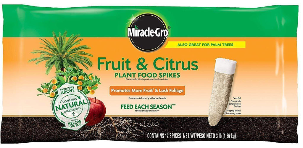 Miracle-Gro Lawn & Patio Fruit & Citrus Fertilizer Spikes - 12 PK