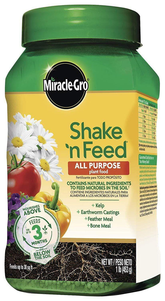 Miracle-Gro Lawn & Patio Shake 'n Feed All Purpose Continuous Release Plant Food 1Lb