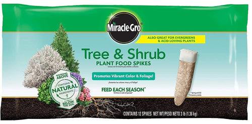 Miracle-Gro Lawn & Patio Tree & Shrub Fertilizer Spikes,12-Pack