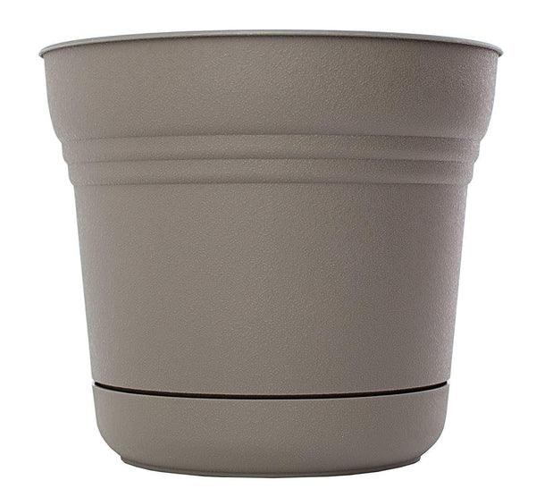 Bloem Lawn & Patio Peppercorn Saturn Planter with Saucer, 5""