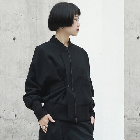 Emra Zipper Bomber Jacket