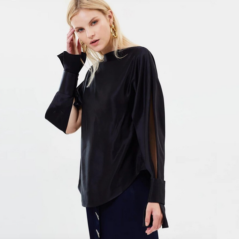 Isla Slit-Sleeve Shirt