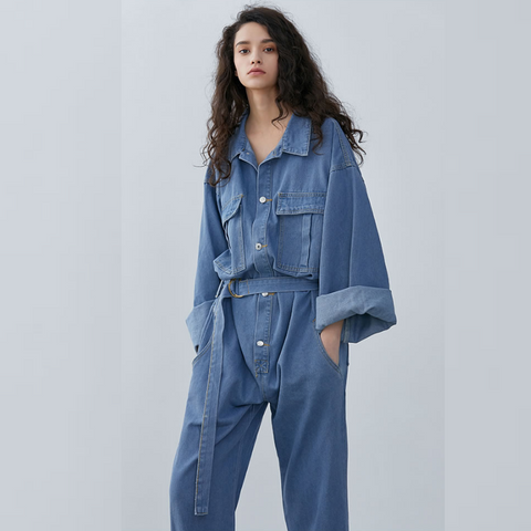 Diane Blue Denim Jumpsuit