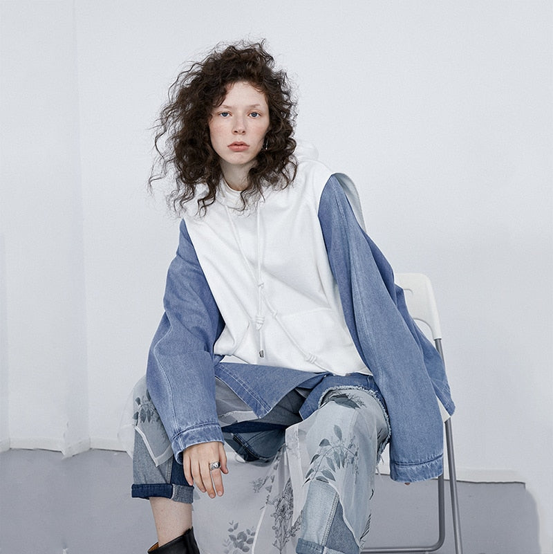 Malin Denim Hybrid Sweatshirt