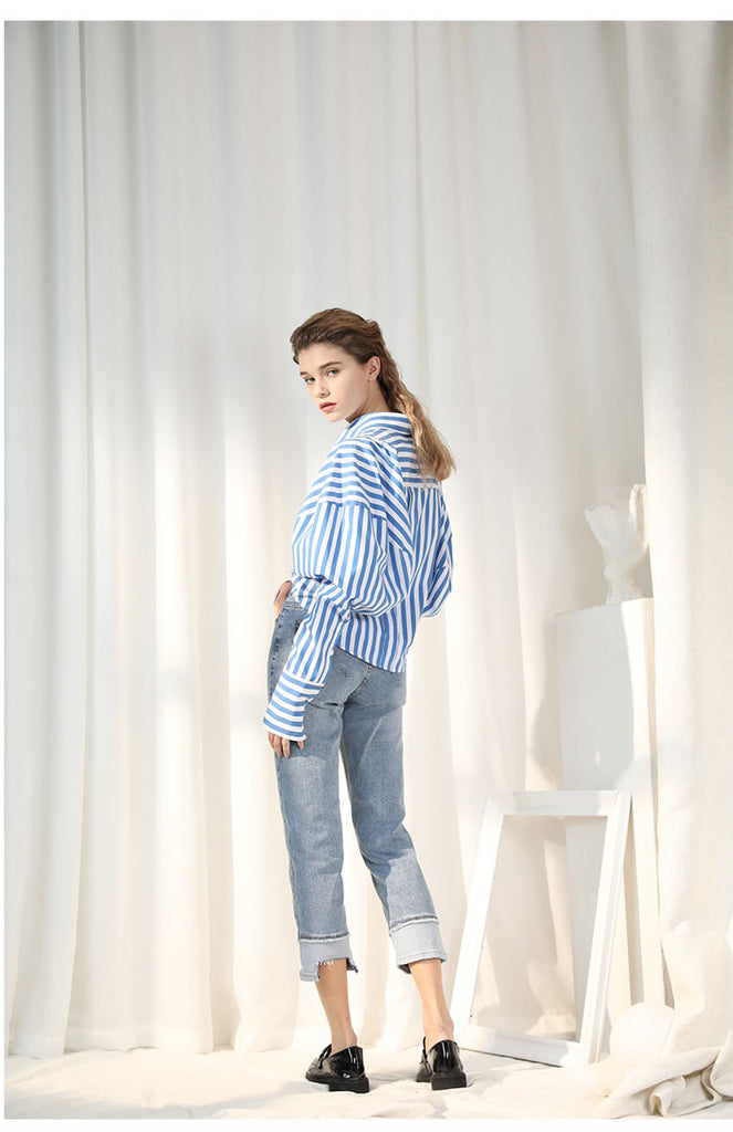 Leni Blue Striped Shirt