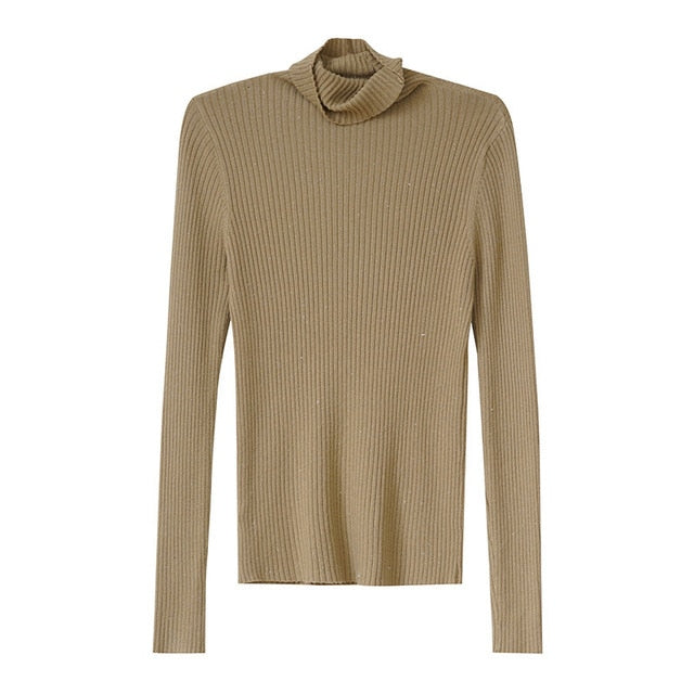 Margot Rib Turtleneck Sweater