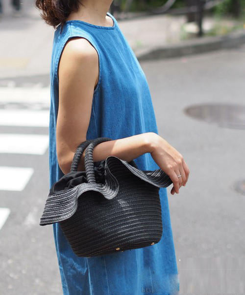 Ani Ruffle Bucket Bag