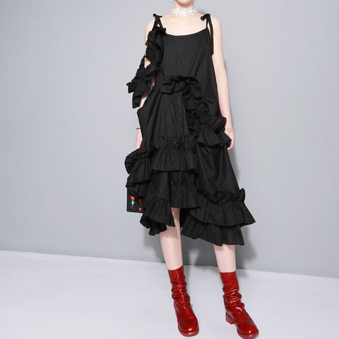 Moki Ruffle Dress