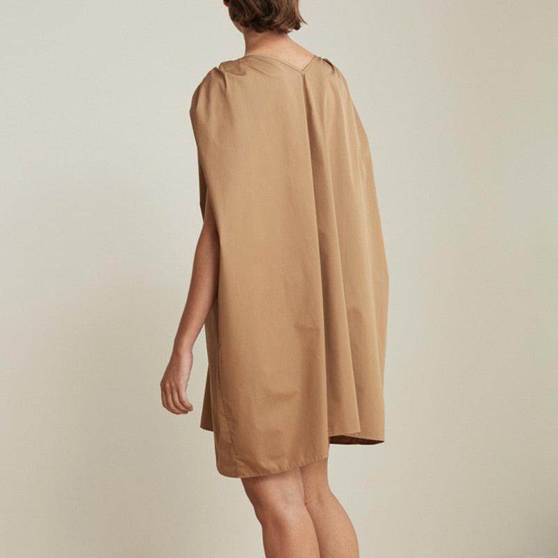 Aya Ruched Shoulder Dress