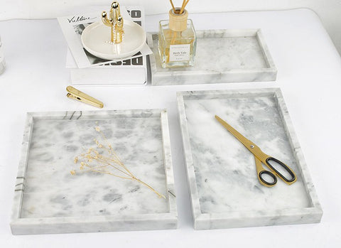 Carrara Marble Storage Tray