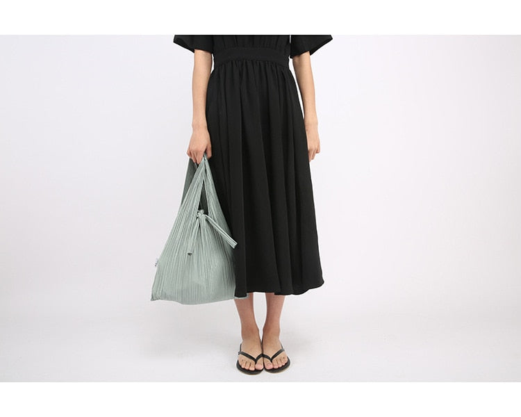 Eiko Pleated Tote Bag